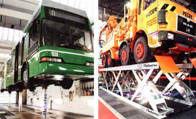 Hebebühnen für Nutzfahrzeuge wie LKW und Busse