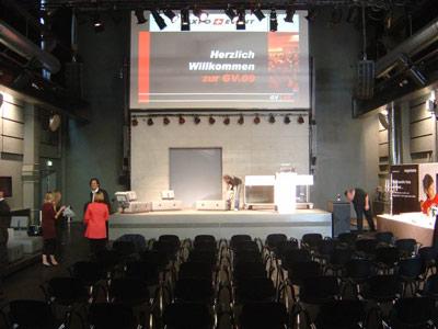 Theater Hebebühne als Rednerbühne auf einem Kongress