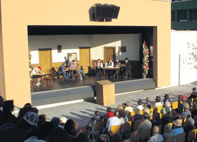 Theaterbühne für das Freilicht-Theater in Murg