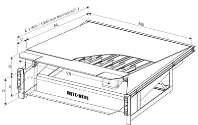 Zeichnung und Funktion einer Vorschubbrucke