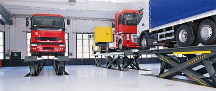 LKW Lift mit einer Tragkraft für bis zu 40 Tonnen