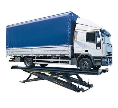 LKW Lift mit einer Tragkraft bis maximal 40 Tonnen.