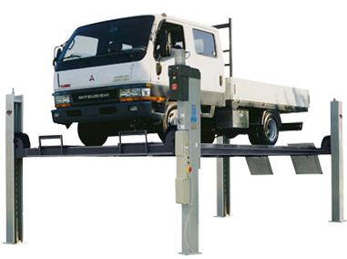 4-Säulen Hebebühne bis 5 Tonnen für Kleinbusse und Transporter freistehend